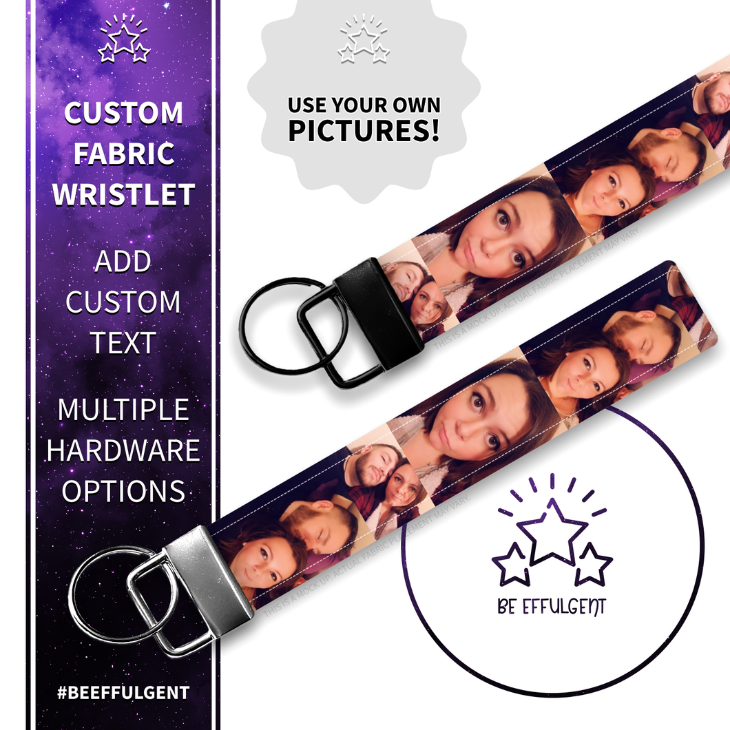 Design Your Own Photo Custom Key Fob Wristlet