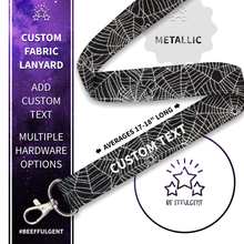 Load image into Gallery viewer, Spider Web Custom Lanyard