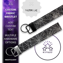 Load image into Gallery viewer, Spider Web Custom Key Fob Wristlet