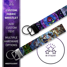 Load image into Gallery viewer, Beauty and the Beast Custom Key Fob Wristlet