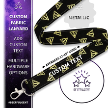 Load image into Gallery viewer, Harry Potter Gold Custom Lanyard