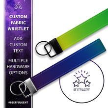 Load image into Gallery viewer, Rainbow Ombre Custom Key Fob Wristlet