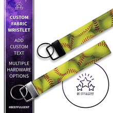 Load image into Gallery viewer, Softball Custom Key Fob Wristlet