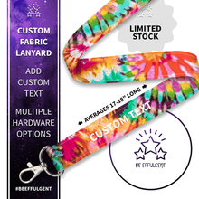 Load image into Gallery viewer, Groovy Tie Dye Custom Lanyard
