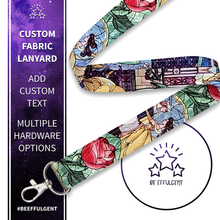 Load image into Gallery viewer, Beauty and the Beast Custom Lanyard