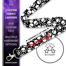 Load image into Gallery viewer, Skull and Bones Custom Lanyard