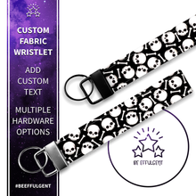 Load image into Gallery viewer, Skull and Bones Custom Key Fob Wristlet
