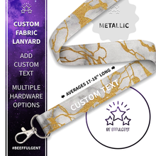 Load image into Gallery viewer, Marble Custom Lanyard