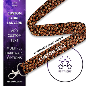 Coffee Bean Custom Lanyard