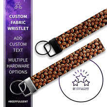 Load image into Gallery viewer, Coffee Bean Custom Key Fob Wristlet
