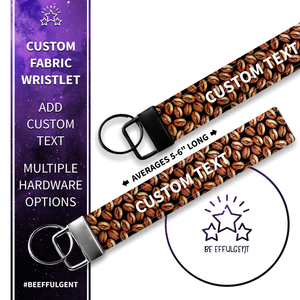 Coffee Bean Custom Key Fob Wristlet
