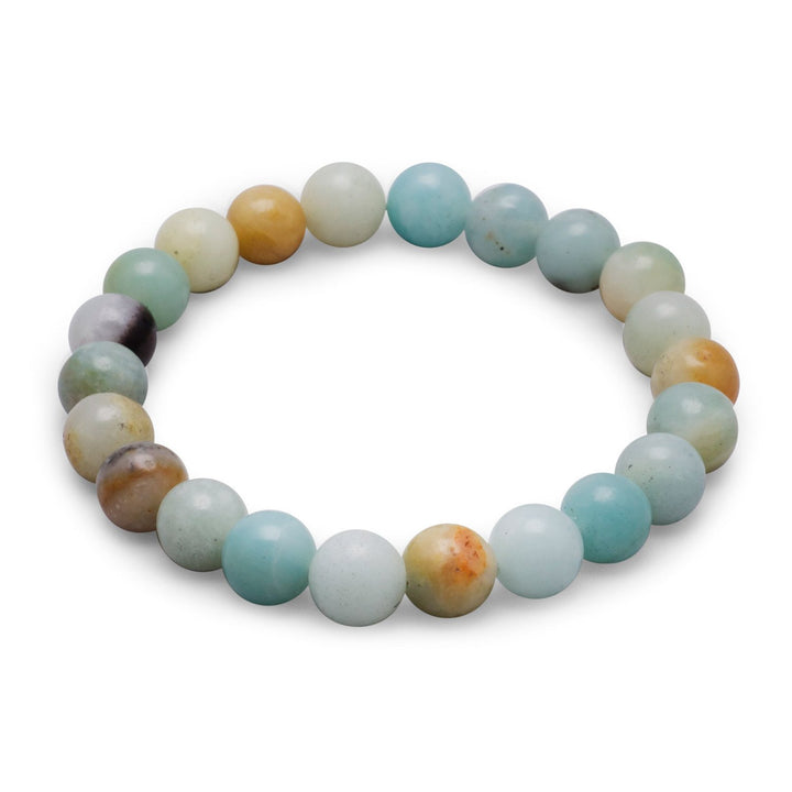 Multicolor Amazonite Bead Stackable Stretch Bracelet