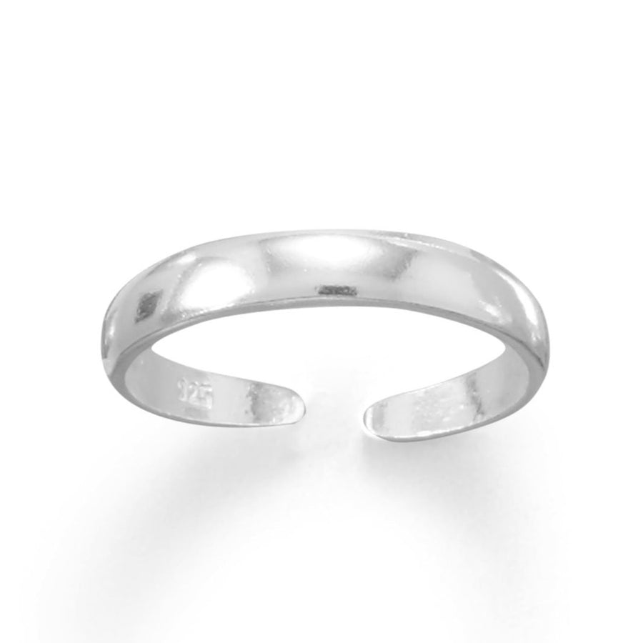 Thin Band Sterling Silver Adjustable Size Toe Ring