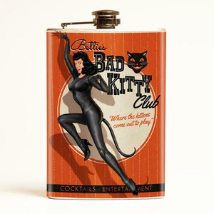 Bettie Page Bad Kitty Drinking Flask