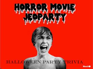 Halloween Horror Jeopardy Trivia Game Digital Download