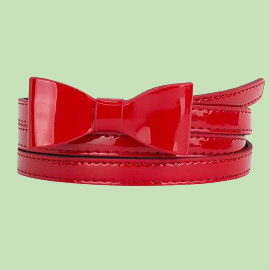 Mini Bow Buckle Skinny Belt-4 Colors Available