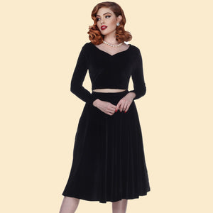 Alice Velvet Swing Skirt