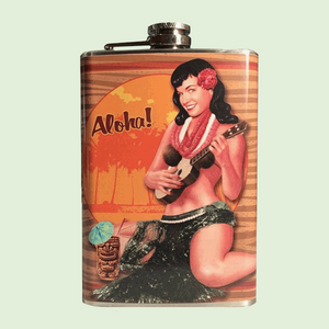 Bettie Aloha Tiki Flask