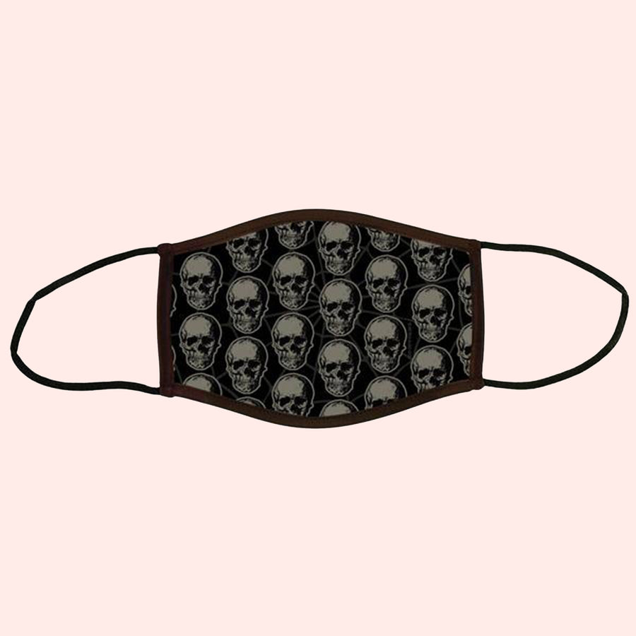 Black Death Adult Face Mask