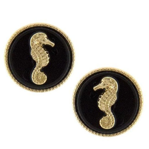 Kinny & Howie Accessories Seahorse Stud Earrings