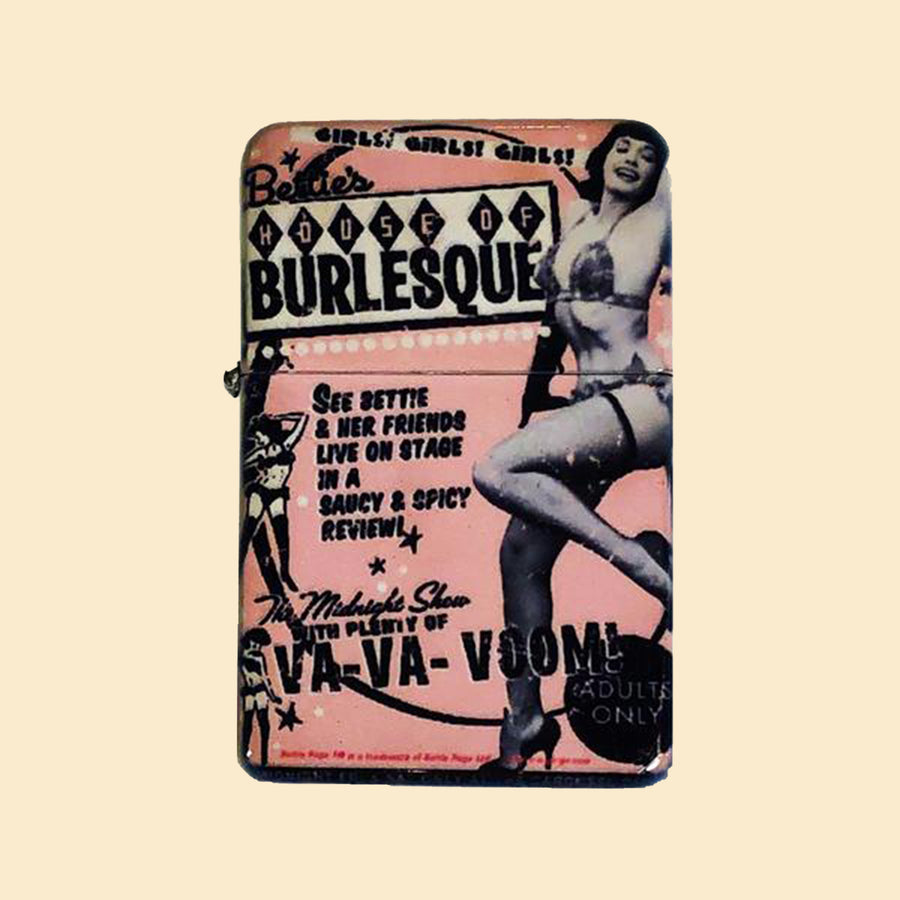 House of Burlesque Windproof Lighter with Tin