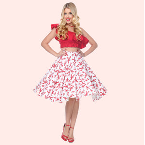 Swing Skirt in Lobster Print