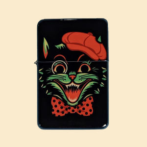 Cool Cat Windproof Lighter with Tin
