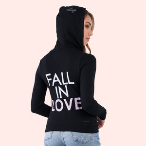 Kinny & Howie Fall in Love Women's Zip Up Hoodie Sweater