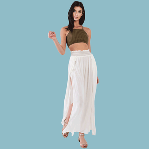 Lovely Day Sheer Boho Maxi Skirt