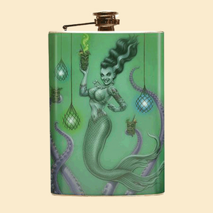 Franken-Mermaid Flask