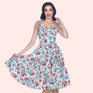 Bettie Page Albuquerque Dress in Guitar Print