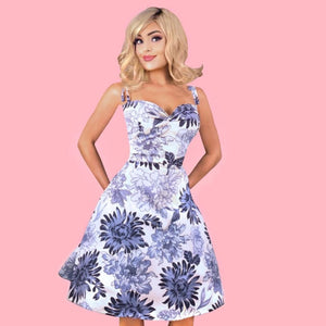 Kinny & Howie Spring Blooms A-Line Swing Dress