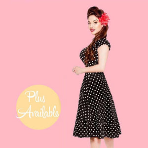 Kinny & Howie 1940's Peasant Cut Polka Dot Dress 5 Colors