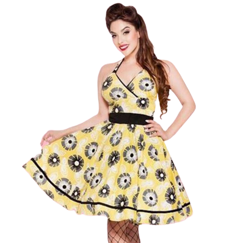 Kinny & Howie Monica 1950's Daisy Print Swing Dress
