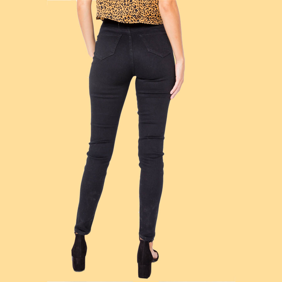 Sandy High Waist Stretch Skinny Jeans