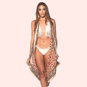 Batik Huntress Vest & Swim Cover