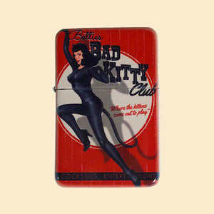 Bad Kitty Windproof Lighter with Tin