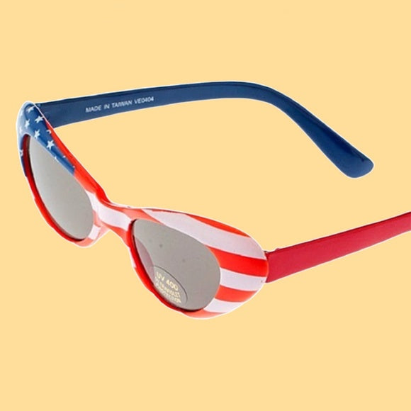 4th of July Pin Up Patriot Cat Eye Glasses