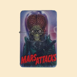 Mars Attacks Windproof Lighter with Tin