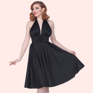 "Bettie Page ""Some Like it Hot"" Dress in Black"