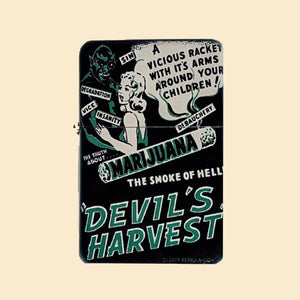 Devil's Harvest Windproof Lighter with Tin