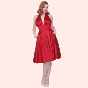 "Bettie Page ""Some Like it Hot"" Dress in Red"