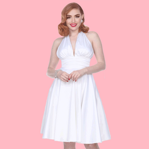 "Bettie Page ""Some Like it Hot"" Dress in White"