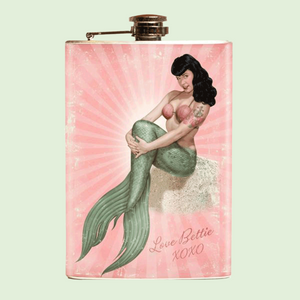Mermaid Bettie Flask