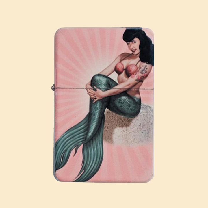 Mermaid Bettie Windproof Lighter with Tin