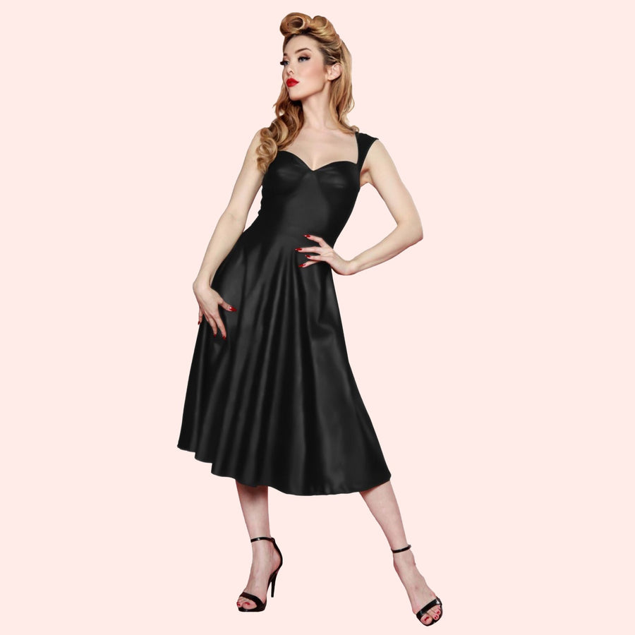 Roman Holiday Dress in Black