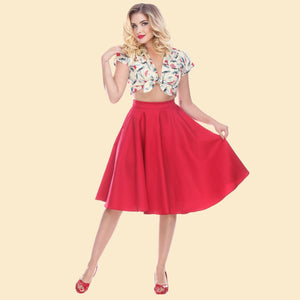 Swing Skirt in Red