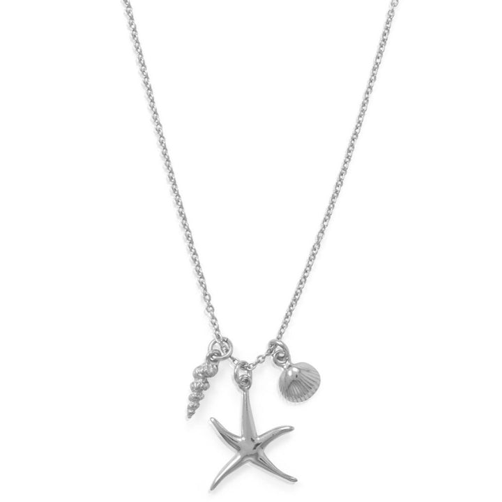 Sea Life Necklace in Sterling Silver