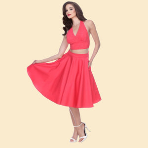 Swing Skirt in Coral