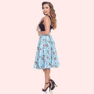 Bettie Page Swing Skirt in Palm Print